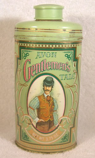 AVON Vintage Gentlemen's Talc Green Advertising Tin