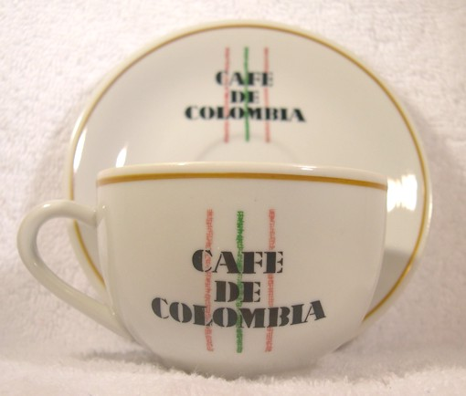 Cafe De Columbia Espresso or Capuccino Cup and Saucer