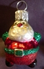 Blown Glass - Li'l Roly-Poly Santa - 2000