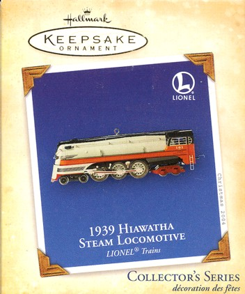 Lionel Trains - 9th - 1939 Hiawatha Steam Locomotive - 2004