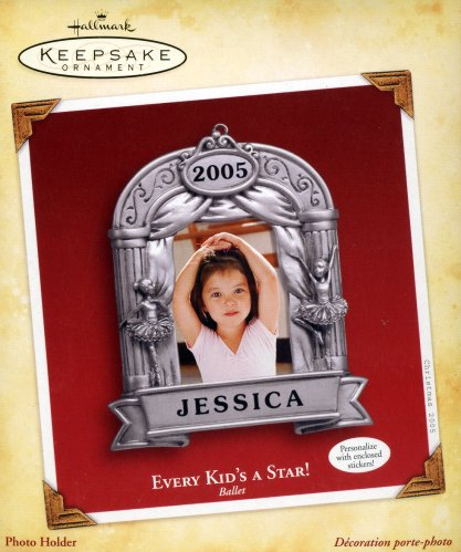 Every Kid's a Star! Ballet - Personalize Photo Holder Ornament - 2005